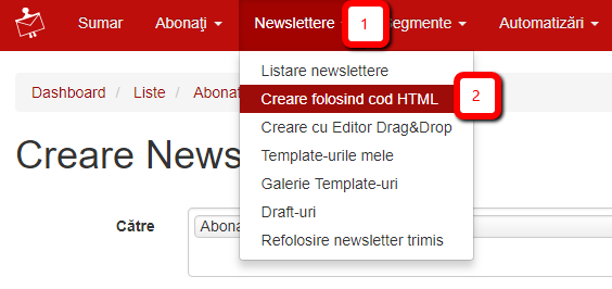 creare newsletter in html