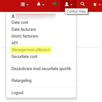 management utilizatori