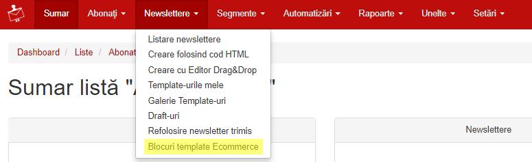 blocuri template ecommerce