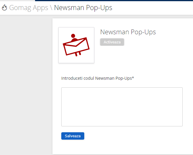 Introduceti codul Newman Remarketing