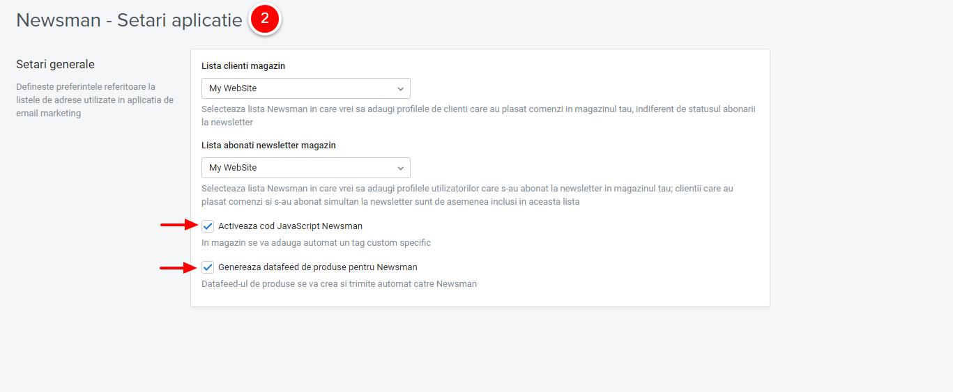 activare javascript si feed produse