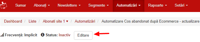 Status activ automatizare