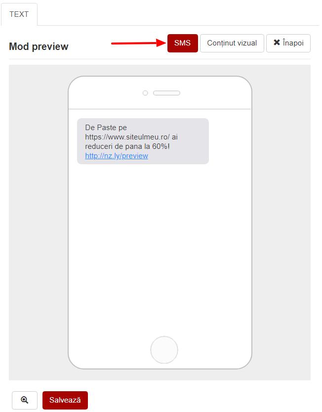 Previzualizare SMS