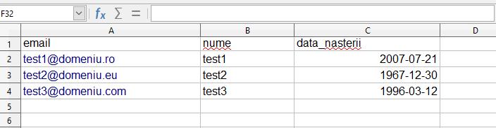 format data nasterii
