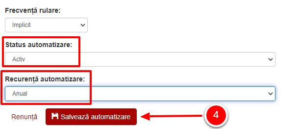 Status si recurenta automatizare