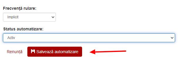 status automatizare activ
